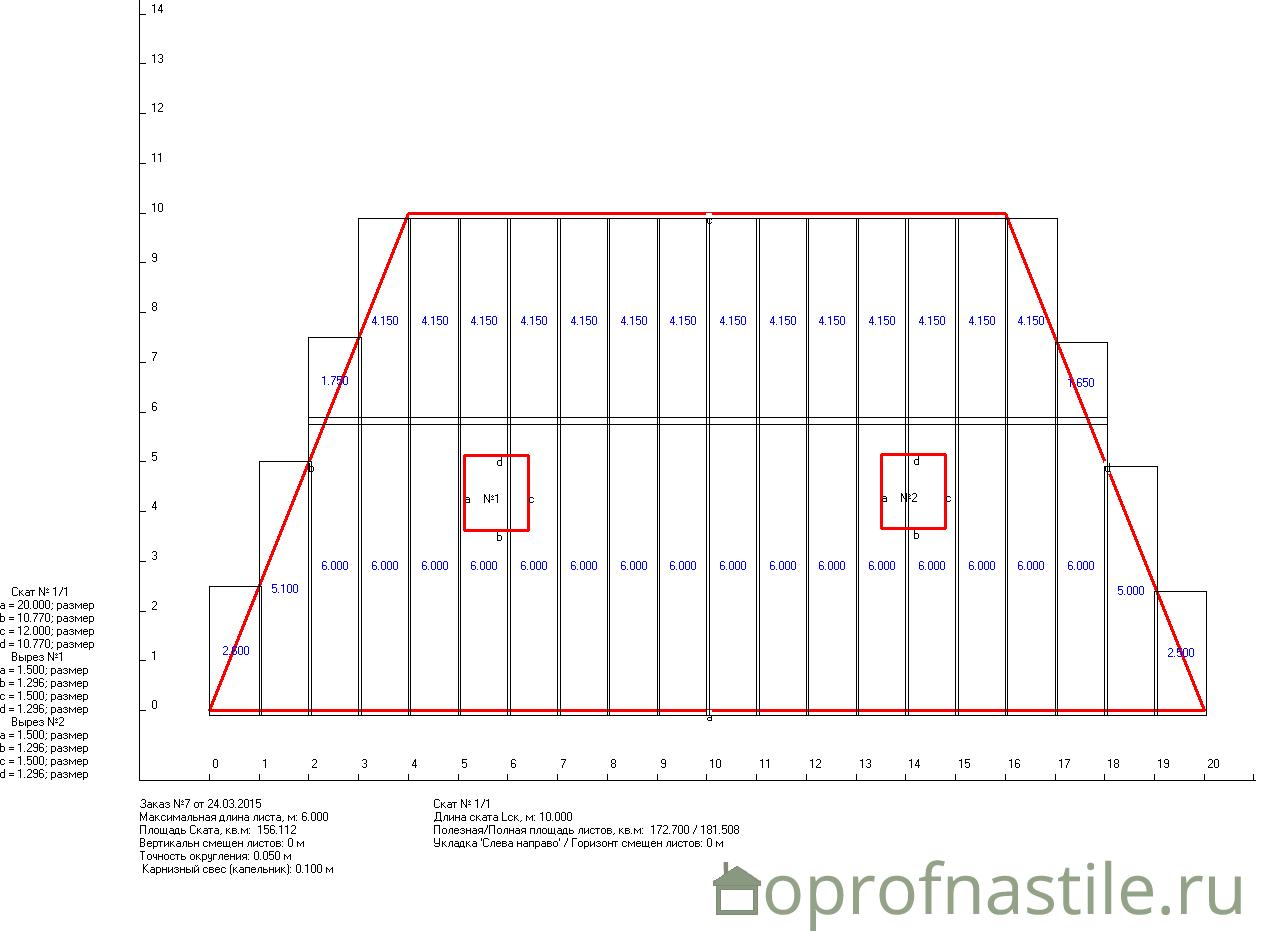 Программа для расчета профнастила на крышу скачать